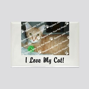 CUSTOMIZE Add Photo Love Cat Magnets